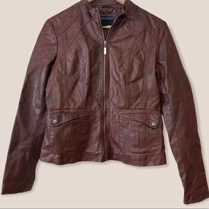 Bernardo Faux Leather Moto Jacket size M